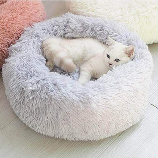 grey super soft cat bed